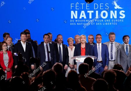 Editorial picture of Nations Movement for a Europe of Nations and Freedom rally in Nice, France - 01 May 2018