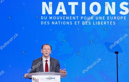 Editorial photo of Nations Movement for a Europe of Nations and Freedom rally in Nice, France - 01 May 2018