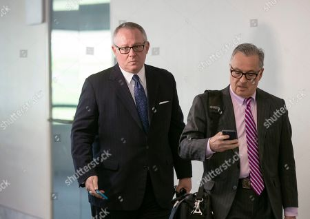Michael Caputo, Dennis C. Vacco. Former Trump campaign official Michael Caputo, left, joined by his attorney Dennis C. Vacco, leaves after being interviewed by Senate Intelligence Committee staff investigating Russian meddling in the 2016 presidential election, on Capitol Hill in Washington, . Caputo had previously appeared before the House Intelligence Committee as it was investigating election interference by Russia