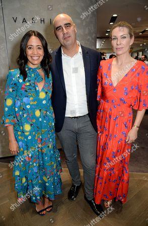 Carmen Borgonovo, Vashi Dominguez and Pippa Vosper