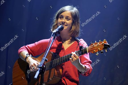 "Leila Huissoud opens for Olivia Ruiz at the Theater Alexandre Dumas in Saint-Germain-en-Laye near Paris as part of the ""Estival"" festival."
