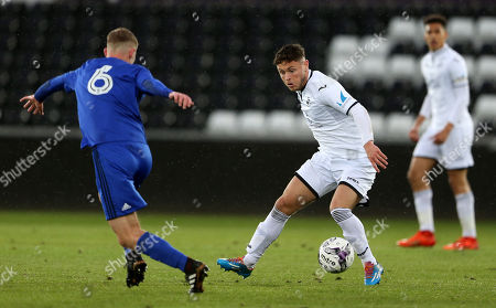 Editorial photo of Swansea City U19s v Cardiff City U19s - FAW Youth Cup Final - 01 May 2018