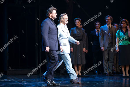 Michael Ball (Anatoly Sergievsky) and Tim Howar (Frederick Trumper) during the curtain call
