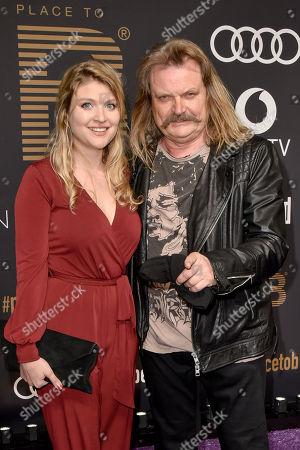 Stock Photo of Lara Mandoki and Vater Leslie Mandoki
