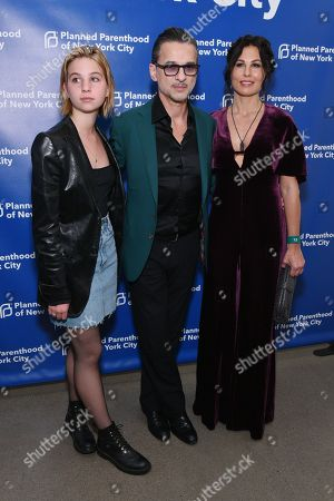 Stella Rose, Dave Gahan and Jennifer Sklias