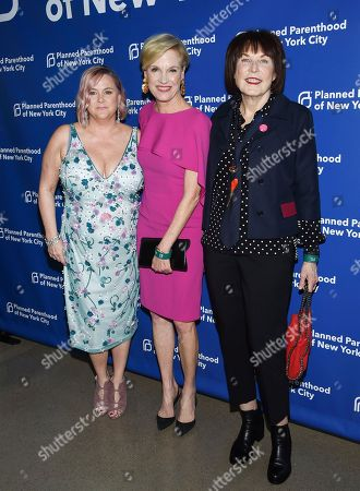 Laura McQuade, Cecile Richards, Marilyn Minter. Planned Parenthood of New York City president and CEO Laura McQuade, left, honoree Cecile Richards and artist Marilyn Minter pose together at the Planned Parenthood Benefit Gala at Spring Studios, in New York