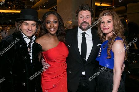 Tim Howar (Frederick Trumper), Alexandra Burke (Svetlana Sergievsky), Michael Ball (Anatoly Sergievsky) and Cassidy Janson (Florence Vassy)