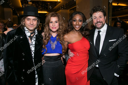 Tim Howar (Frederick Trumper), Alexandra Burke (Svetlana Sergievsky), Cassidy Janson (Florence Vassy) and Michael Ball (Anatoly Sergievsky)
