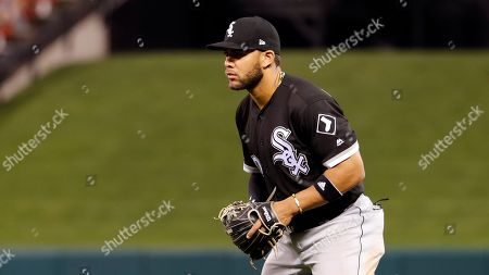 Chicago White Sox second baseman Yoan Moncada takes up his position during the ninth inning of a baseball game against the St. Louis Cardinals, in St. Louis