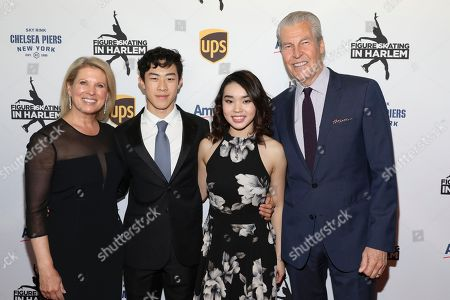 Stock Photo of Tina Lundgren, Nathan Chen, Karen Chen, Terry J. Lundgren