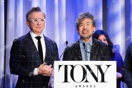 Thomas Schumacher, Chairman of The Broadway League, and David Henry Hwang, Chairman of the American Theatre Wing