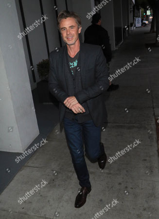 Editorial photo of Sam Trammell out and about, Los Angeles, USA - 01 May 2018