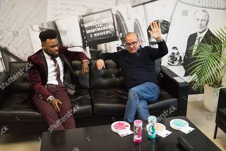 Jordan Kensington and Touker Suleyman in his office