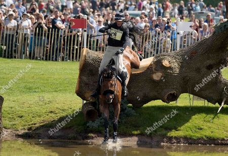 Mark Todd (NZL)  on Leonidas ll in action at the Badminton Horse Trials 2018