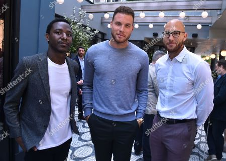Jerrod Carmichael, Blake Griffin and Taylor Griffin