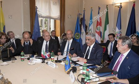 Editorial picture of Alfano meets delegation of Central American Integration System, Rome, Italy - 02 May 2018