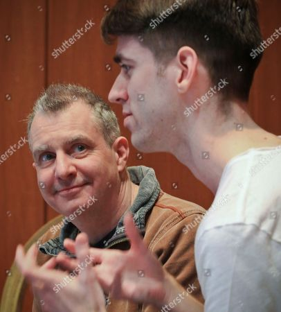 """Stock Photo of Bambino. Director Phelim McDermott, left, and composer Lliam Paterson appear at an interview for """"BambinO,"""" their Scottish opera designed for an audience that is 6 to 18 months old,, at the Metropolitan Opera House in New York"""