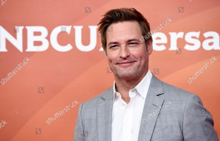 "Stock Photo of Josh Holloway, a cast member in the USA series ""Colony,"" poses during the 2018 NBCUniversal Summer Press Day, in Universal City, Calif"