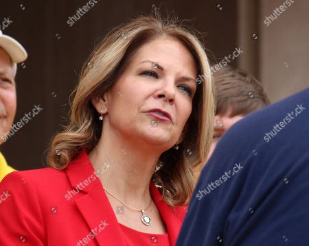 Arizona Republican U.S. Senate candidate Dr. Kelli Ward speaks to the media as she prepares to file her nominating petitions at the state Capitol in Phoenix, Ariz., . Other Republicans in the race include former Maricopa County Sheriff Joe Arpaio and current U.S. Rep. Martha McSally, while U.S. Rep. Kyrsten Sinema is the leading Democrat in the race to replace retiring GOP Sen. Jeff Flake