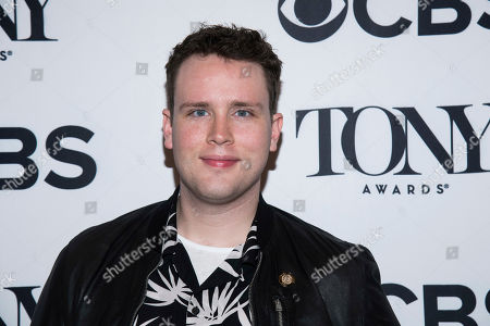 Grey Henson attends the 2018 Tony Awards Meet The Nominees press junket, in New York
