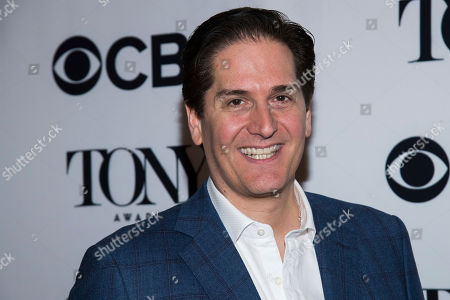 Stock Image of Nick Scandalios attends the 2018 Tony Awards Meet The Nominees press junket, in New York