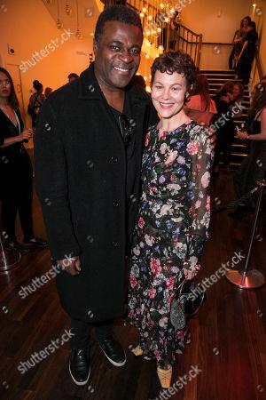 Danny Sapani and Helen McCrory