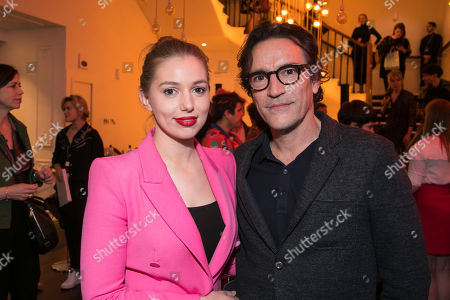 Stock Image of Seana Kerslake (Cat) and Ben Chaplin (Bernard)