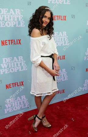 """Ronni Hawk arrives at the LA Special Screening of the """"Dear White People"""" Season 2 at the Arclight Hollywood, in Los Angeles"""