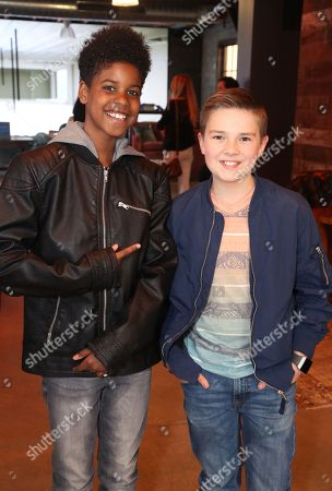 JD McCrary, Jet Jurgensmeyer. JD McCrary and Jet Jurgensmeyer at the Surface Young Hollywood Event, at Microsoft Lounge in Culver City, Calif