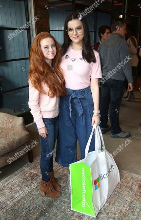 Francesca Capaldi, Merit Leighton. Francesca Capaldi and Merit Leighton at the Surface Young Hollywood Event, at Microsoft Lounge in Culver City, Calif
