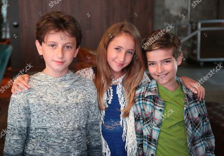 August Maturo, Ava Kolker, Elias Harger. August Maturo, from left, Ava Kolker and Elias Harger at the Surface Young Hollywood Event, at Microsoft Lounge in Culver City, Calif