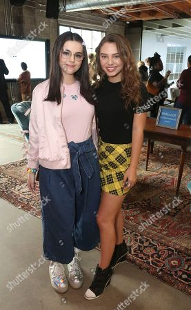 Merit Leighton, Caitlin Carmichael. Merit Leighton and Caitlin Carmichael at the Surface Young Hollywood Event, at Microsoft Lounge in Culver City, Calif