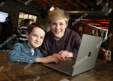 Jason Maybaum, Casey Simpson. Jason Maybaum and Casey Simpson at the Surface Young Hollywood Event, at Microsoft Lounge in Culver City, Calif