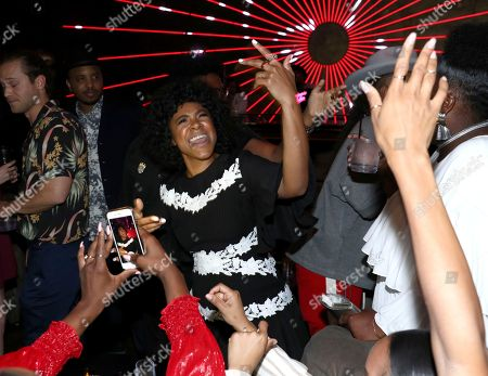"""Courtney Sauls attends the Netflix original series """"Dear White People Vol. 2"""" afterparty at Avenue, in Los Angeles"""