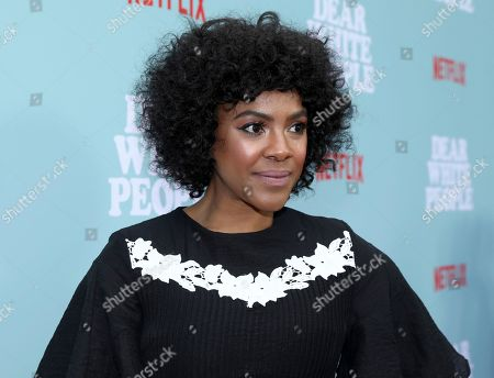 """Courtney Sauls attends the Netflix original series """"Dear White People Vol. 2"""" premiere screening at the Arclight Hollywood, in Los Angeles"""