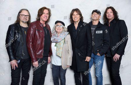 Europe - Mic Michaeli, John Leven, Joey Tempest, Ian Haugland, John Norum, Marie Bergman, Swedish Music Hall Of Fame inductees, Stockholm