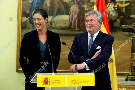 Garbine Muguruza and Inigo Mendez de Vigo