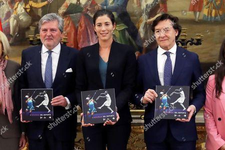 Garbine Muguruza, Inigo Mendez de Vigo and Jose Ramon Lete