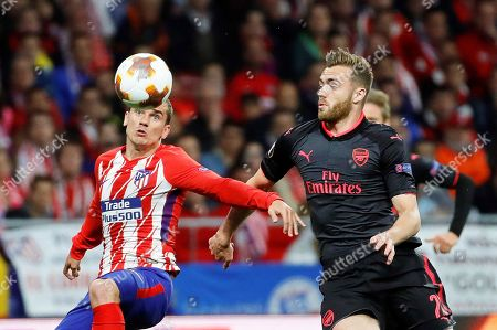 Calum Chambers and Antoine Griezmann