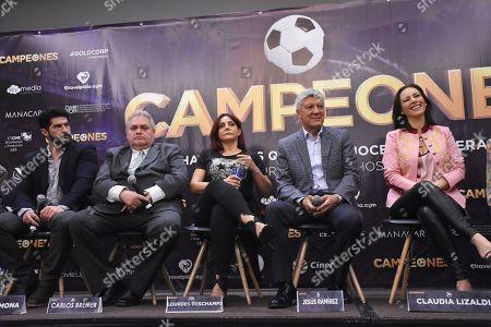 (L to R) Arturo Carmona, Carlos Bremer, Lourdes Deschamps, Jesus Ramirez, Claudia Lizaldi