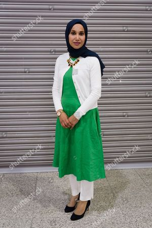 Rabina Khan, mayoral candidate for the People's Alliance of Tower Hamlets (PATH) arrives at the Tower Hamlets Mayor election count, held at the Excel Centre in London.