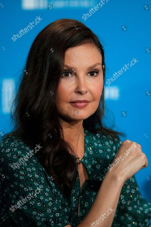 Actress Ashley Judd attends a discussion on feminism at the Milken Institute Global Conference, in Beverly Hills, Calif