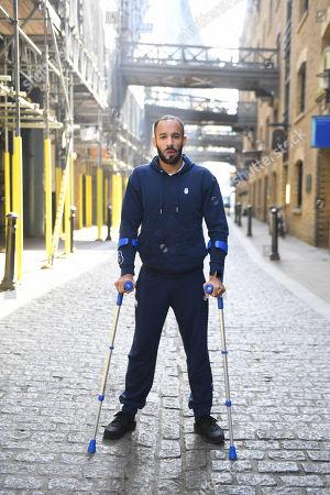 James Ellington. British Sprinter James Ellington Recovering After His Motor Bike Crash In January 2017.