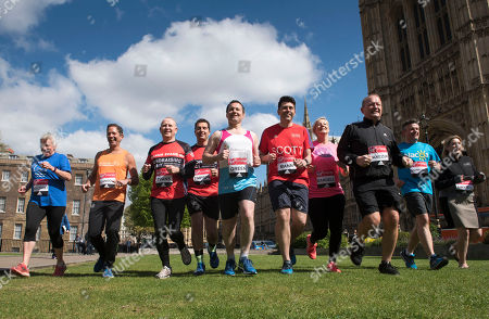 A Total Of 16 Mps Are Taking On The Challenge Of Running The 2017 Virgin Money London Marathon Smashing All Previous Records For Mp Entries. The Previous Record Of Nine Was Set In 2014. The 16 Include Three Women Mps - Another Record - Including One From The Scottish National Party Hannah Bardell The First Snp Member Ever To Run. Left/right- Amanda Solloway Jonathan Djanogly Graham Evans Edward Timpson Scott Mann Chris Green Jon Ashworth Simon Danczuk Hannah Bardell Mims Davies.