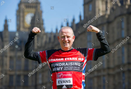 Graham Evans: A Total Of 16 Mps Are Taking On The Challenge Of Running The 2017 Virgin Money London Marathon Smashing All Previous Records For Mp Entries. The Previous Record Of Nine Was Set In 2014. The 16 Include Three Women Mps - Another Record - Including One From The Scottish National Party Hannah Bardell The First Snp Member Ever To Run. Pictured Is Graham Evans.