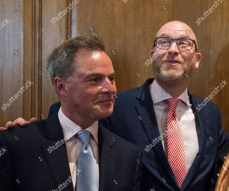 Paul Nuttall. Ukip Leader Paul Nuttall Mep With Deputy Leader Peter Whittle Announcing The Ukip Policy For The General Election In Westminster. 24.04.2017.