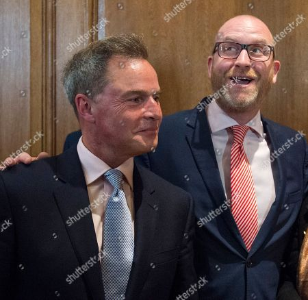 Paul Nuttall. Ukip Leader Paul Nuttall Mep With Deputy Leader Peter Whittle Announcing The Ukip Policy For The Election In Westminster.
