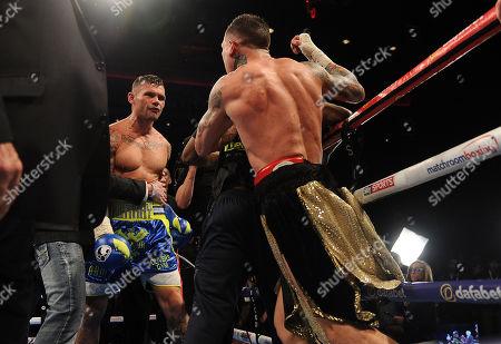 Stock Image of Martin Murray V Gabriel Rosado. Matchroom Boxing. Liverpool. Martin Murray V Gabriel Rosado. Argument At The End. 22/04/17