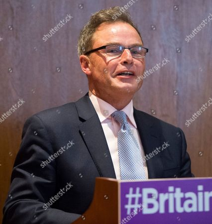 Stock Image of Peter Whittle . Ukip Deputy Leader Peter Whittle Announcing The Ukip Policy For The Election In Westminster.