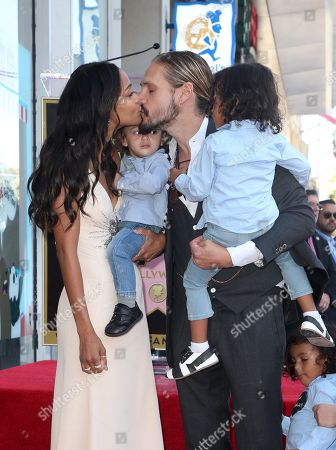 Editorial picture of Zoe Saldana honored with a star on the Hollywood Walk of Fame, Los Angeles, USA - 03 May 2018